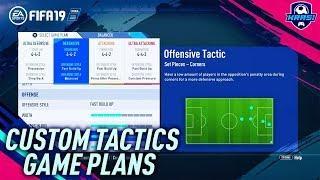 FIFA 19 BEST CUSTOM TACTICS & GAME PLANS TUTORIAL - BEST ATTACK & BEST DEFENSE - TIPS & TRICKS