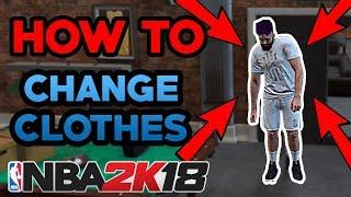 NBA 2K18 NEIGHBORHOOD - HOW TO CHANGE CLOTHES / SHOES (TUTORIAL)