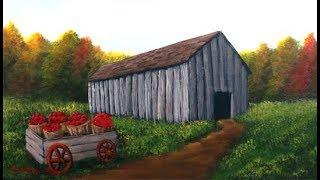 Autumn Barn - Painting and Perspective Tutorial