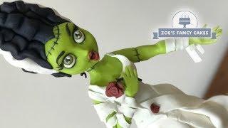 Frankensteins Bride doll cake Halloween tutorial
