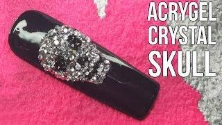 Crystal Skull Nail Art Design - Quick and Easy Nail Tutorial