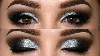 Classic Black Smokey Eye with Glitter Makeup Tutorial