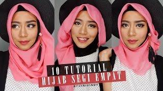10 Tutorial Hijab Segi Empat | 10 Hijab Style Paris | IniVindy