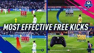 FIFA 19 MOST EFFECTIVE FREE KICKS TUTORIAL - NEW, HIDDEN, SECRET & OLD! HOW TO SCORE FREE KICKS