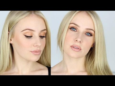 Makeup Tutorial for FAIR SKIN / Contouring, Nude Lips, Bronze Eyes | Lauren Curtis