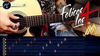 Como tocar Felices los 4 MALUMA en Guitarra | Tutorial Completo | Christianvib