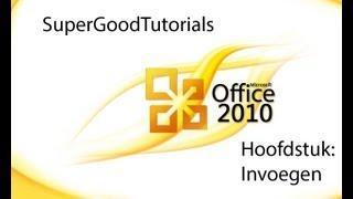 Microsoft Office Word 2010 Nederlands Handleiding Invoegen