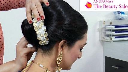 Indian-Asian bridal Hairstyle tutorial.