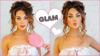 Girly Makeup Routine & Big Messy Bun Tutorial