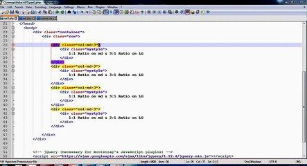 Part 4 -- Grid Classes Bootstrap Tutorial in hindi