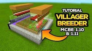 TUTORIAL VILLAGER BREEDER MCBE 1.10/1.11+ WORKS 100%!