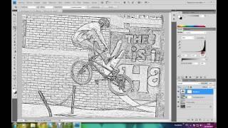 Tutorial Photoshop (CS3 CS4 CS5 CS6) Como Pasar Imagen A Dibujo. (ESPAÑOL)