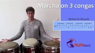 Marcha on 3 congas - Tutorial by Michael de Miranda