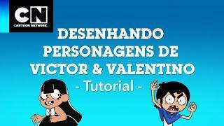 Tutorial: Como desenhar a Charlene | Victor e Valentino | Cartoon Network