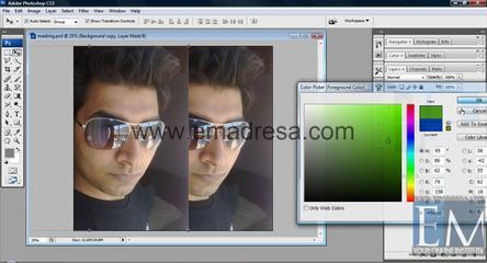 Layer Masking Basic Photoshop Tutorials In URDU, Hindi By Emadresa