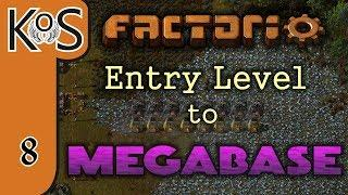 Factorio: Entry Level to Megabase Ep 8: NANOBOTS FEATURE / INSERTER ARRAY - Tutorial Series Gameplay