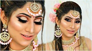 Indian WEDDING Party PINK Makeup - Step by Step Tutorial For Beginners   #Bridal #Beauty #Anaysa