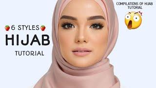 6 STYLES LATEST FOR WORK HIJAB SQUARE TUTORIAL !