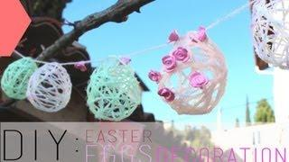 DIY Pâques : Oeufs En Fil De Laine - Easter Eggs Decoration (english Subs)