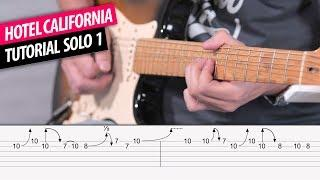 Hotel California SOLO 1 tutorial guitarra con Tablatura y tabs  | Guitarraviva