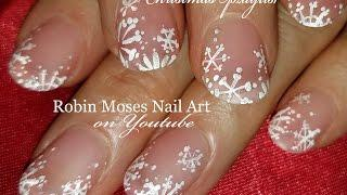Easy White Snowflake Nails Design | Elegant Matte DIY Xmas Nail Art Tutorial