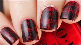 Simple Flannel Plaid Nail Art Design Tutorial || KELLI MARISSA