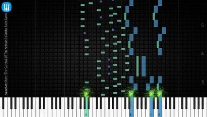 """[Piano Solo]Aquarium (from """"The Carnival Of The Animals"""")-Synthesia Piano Tutorial"""