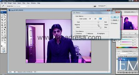 Color Balance Basic Photoshop Tutorials In URDU, Hindi By Emadresa