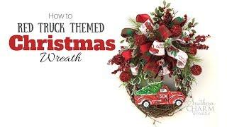 How To Red Truck Christmas Wreath Tutorial