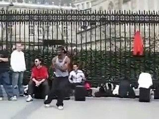 funny street dance in paris