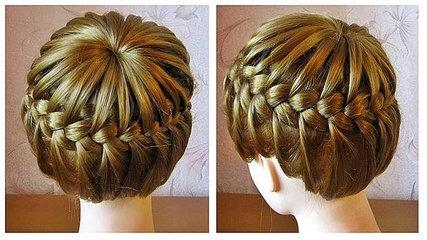 Crown Braid - Full Braid on Head Tutorial - Hairstyle