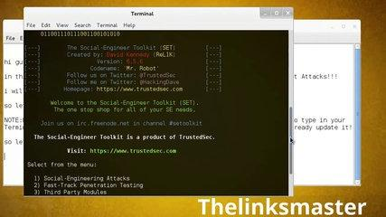 How to use Social engineering toolkit website Attack vectors Using kali linux Tutorial