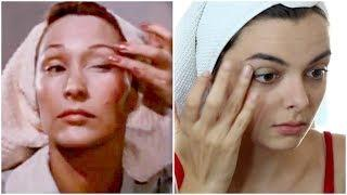 Following Tips From A 1950's Beauty Tutorial