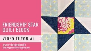 Friendship star block - Mysteries Down Under quilt - video tutorial