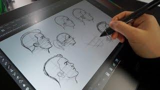 My Tutorial Workflow   Pencil + Paper Vs. Cintiq Pro 16