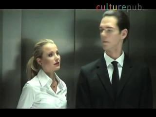 Sexy Girls Hot Blonde Seduces Man In Elevator- Funny GAG