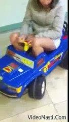 Funny Dumb Girl On Little Car - Must Watch(videomasti.com)