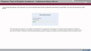 PTE Academic English Test Tutorial - Speaking 1