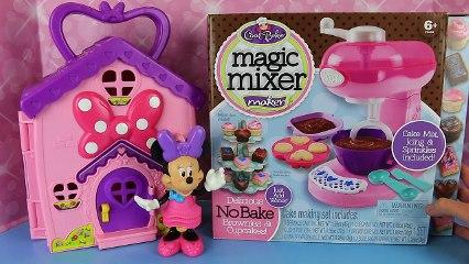 CUPCAKES & BROWNIES Sweet Treats Maker! Minnie Mouse & Magic Mixer Toy Review Cooking Show Kids Toys