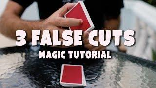 Learn 3 of my FAVORITE False Cuts : Sleight Tutorial