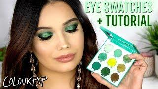COLOURPOP Just My Luck Palette EYE SWATCHES + TUTORIAL