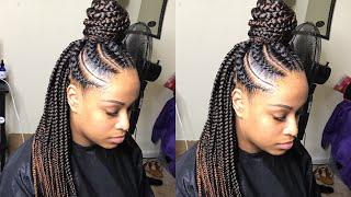 LARGE FEED IN BOX BRAIDS TUTORIAL- VERY DETAILED!