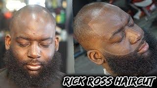 Barber Tutorial: How To Line A Receding Hairline/ Crispy Beard/ Rick Ross Haircut