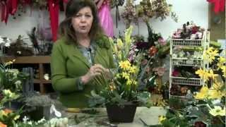 How To Do Easter Flower Arrangements | Easter Table Decorations Using Silk Flowers