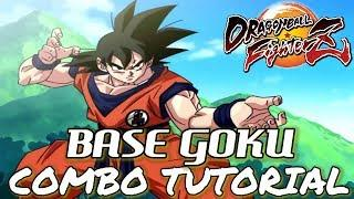 Dragon Ball FighterZ: BASE GOKU COMBOS(5k-7.6k+ Damage) - Tutorial/Breakdown