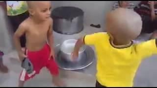funny videos hit by drum