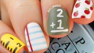 4 Easy Back To School DIY Nail Art Designs Tutorial || KELLI MARISSA