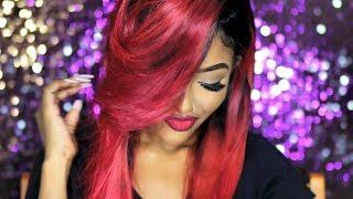 DIY: Candy Red Hair Tutorial | Brazilian Virgin Hair 360 Lace Wig
