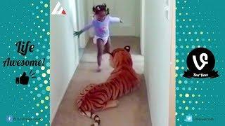TRY NOT TO LAUGH or GRIN: Funny Animals vs Kids Fails Compilation 2017 | Life Awesome