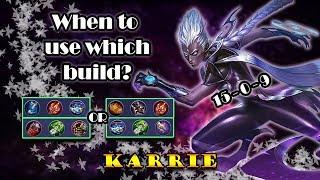 (Indo/Eng Sub) The Perfect Build For Different Scenario - Karrie Tutorial   Mobile Legends